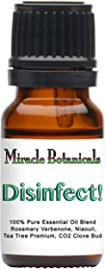 Miracle Botanicals Disinfect! Essential Oil Blend - 100% Pure Therapeutic Grade Essential Oils - 10ml or 30ml Sizes - 10ml
