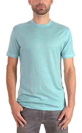 7b07b88a67cd Woolly Clothing Men's Merino Wool Crew Neck Tee Shirt - Everyday Weight -  Wicking Breathable Anti