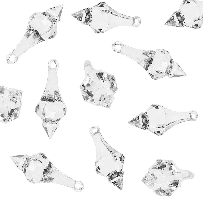 Amazon.com: Acrylic Clear Ice Rock Diamond Chandelier Drops Crystals ...
