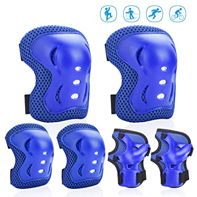 Feeke Kids/Youth Knee Pads Elbow Pads Protective Gear Set Wrist Guards for Skates Rollerblade Roller Cycling BMX Bike Rollerblading Skating Scooter : Sports & Outdoors