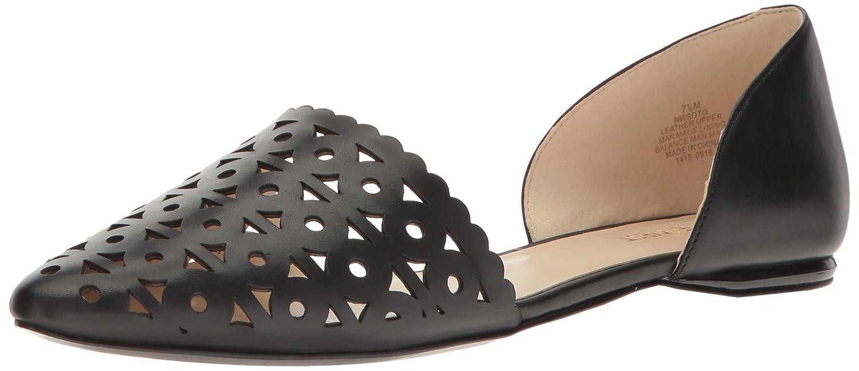 Nine West Women's Soto Leather Pointed Toe Flat B01LXTII3K 10.5 B(M) US Black