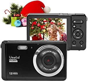 Digital Camera, 2.8 Inch HD Digital Camera Rechargeable Point and Shoot Camera, Students Cameras Kids Digital Camera Compact Cameras for Photography (Black)