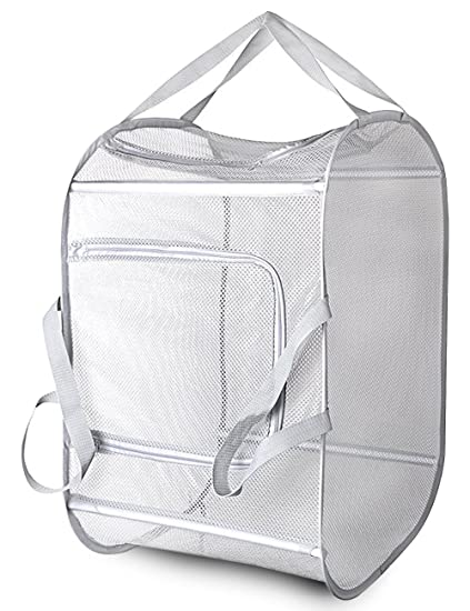 Laundry Bags With Handles Magnificent Amazon Daly Kate Clothes PopUp Foldable Basket Large Mesh