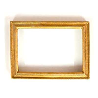Melody Jane Dollhouse Accessory Empty Gold Picture Painting Frame Med: Toys & Games