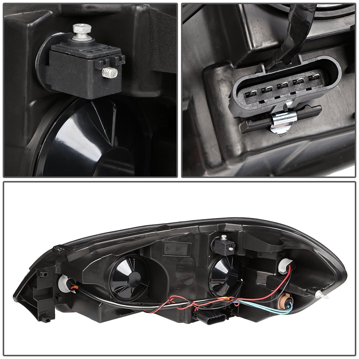 For 06-16 Chevy Carlo//Impala Limited DNA Motoring HL-LB-CI06-BK-CL1 Pair of Headlight
