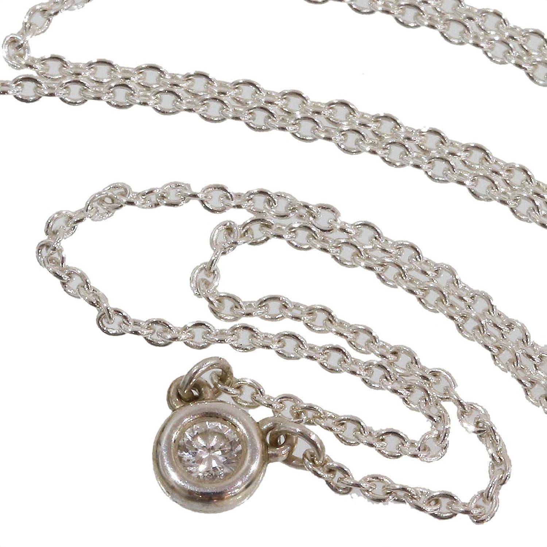 (ティファニー)Tiffany バイザヤード ダイヤ ネックレス SV925 40.5cm 箱 中古 B071LLVLFK