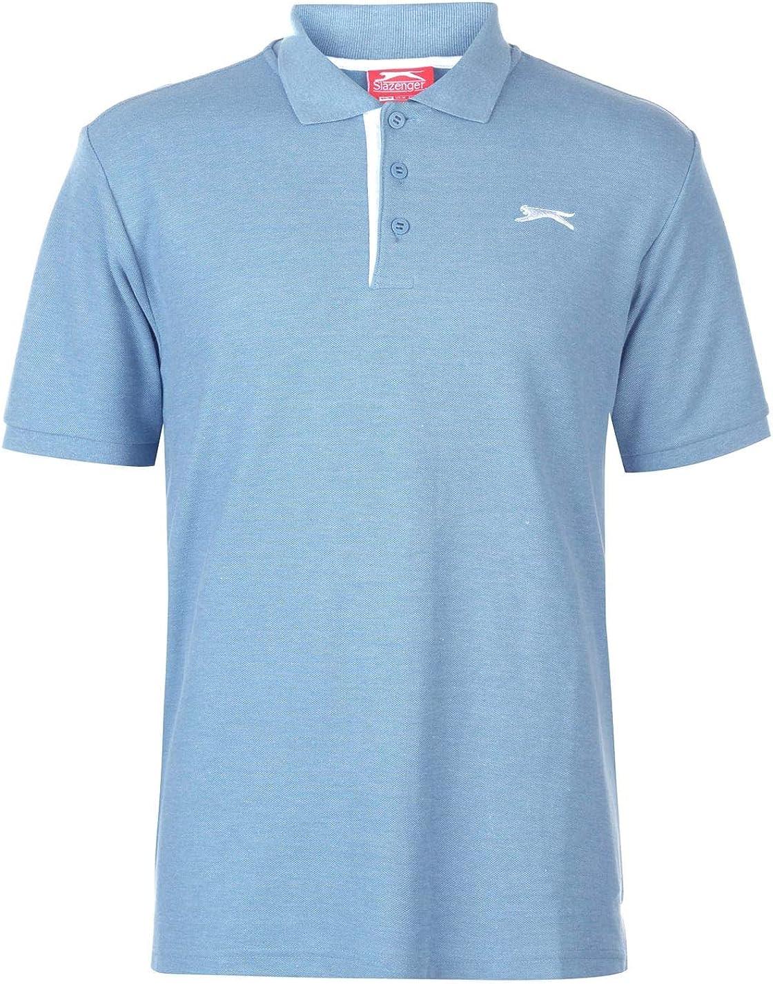 Slazenger Hombre Plain Camiseta Polo Denim Marga 3XL: Amazon.es ...