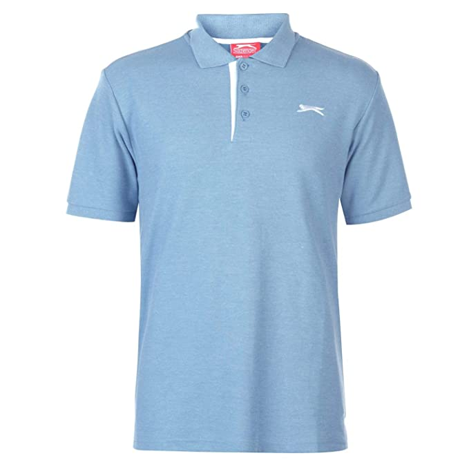 Slazenger Hombre Plain Camiseta Polo Denim Marga 4XL: Amazon.es ...