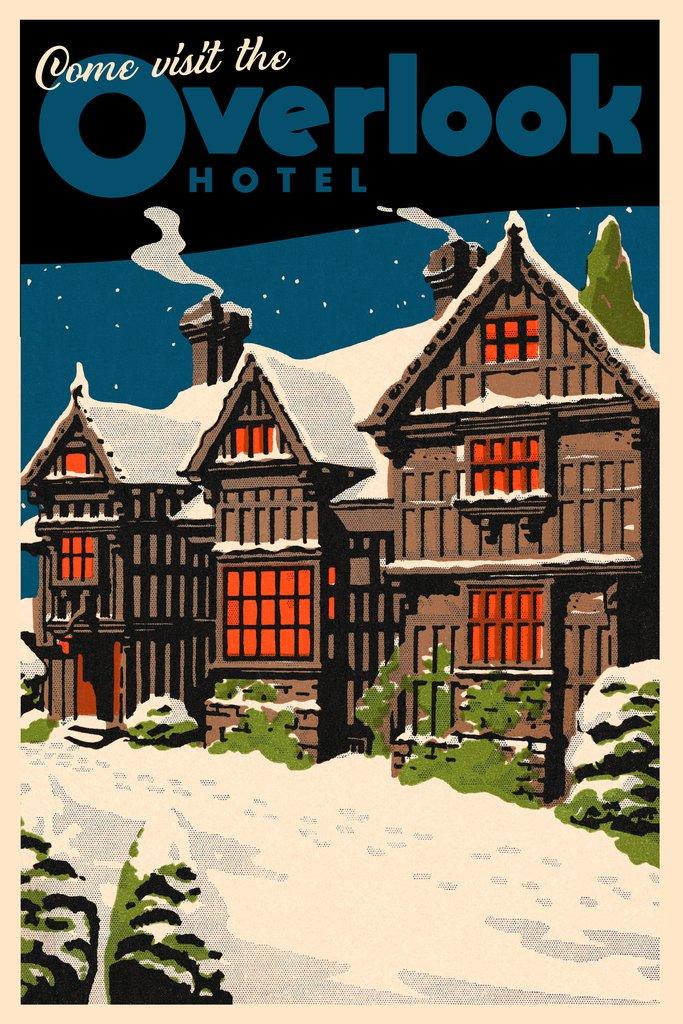 Overlook Hotel Vintage Travel Poster 12x18 inch