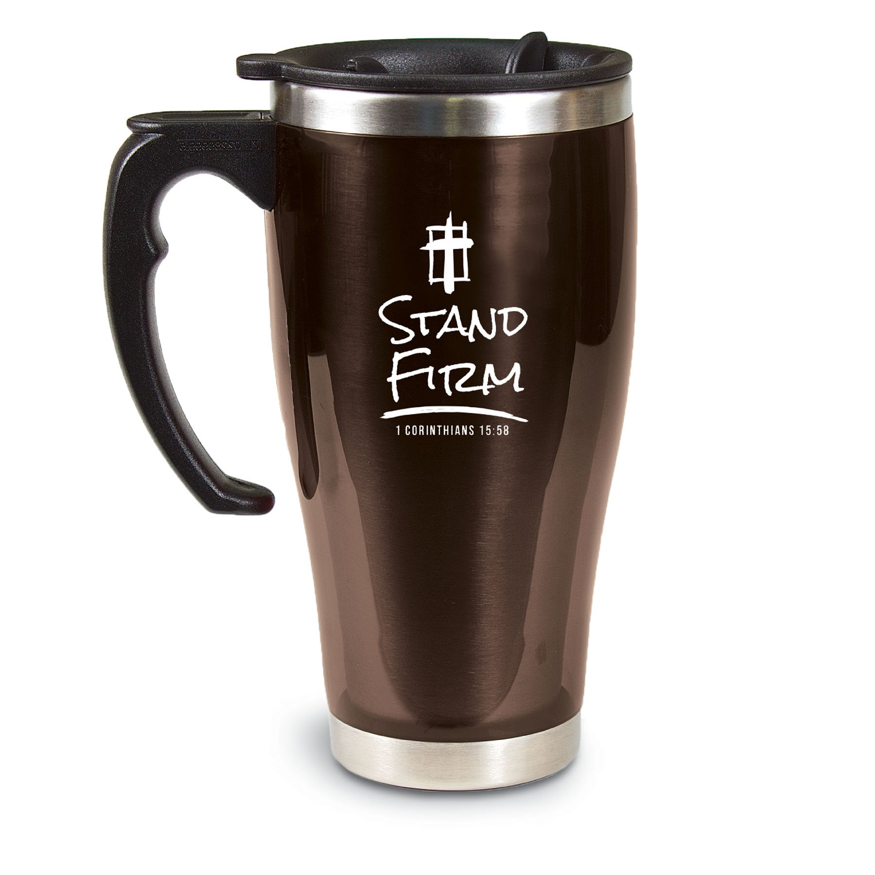 Lighthouse Christian Products Stand Firm Acrylic/Stainless Steel Travel Mug, 18 oz