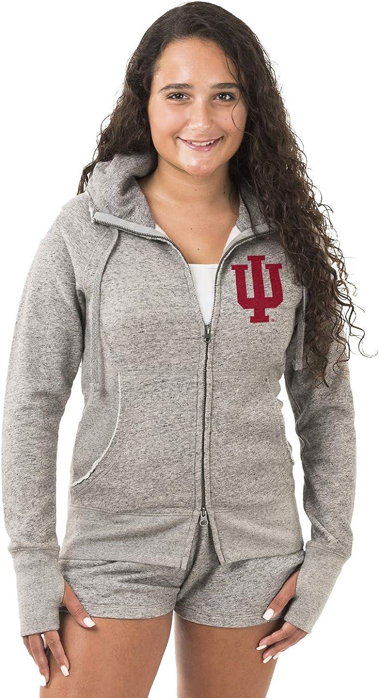 American Collegiate University of Indiana Womens Zip Hoodie NCAA College Sweatshirt