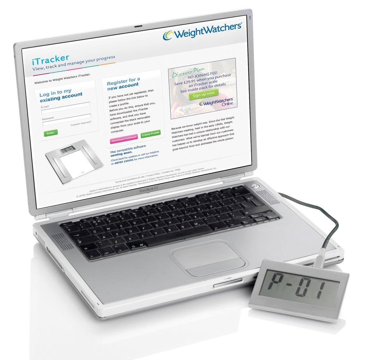 Weight Watchers 8989U iTracker - Báscula electrónica con funciones de análisis corporal: Amazon.es: Hogar