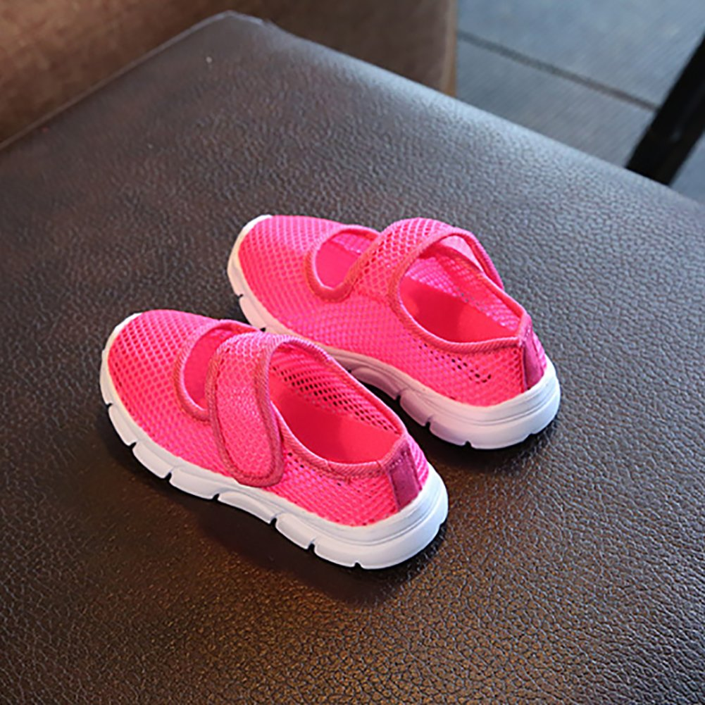 BININBOX Kids Breathable Mesh Sneakers Candy Color Casual Shoes for Girls Boys