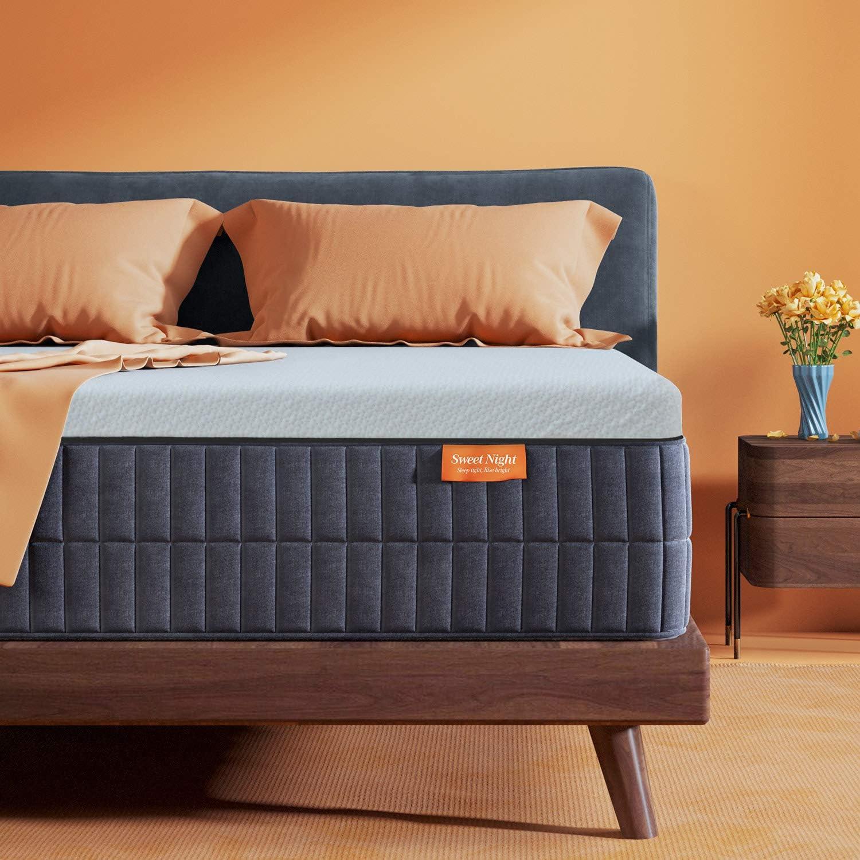 Sweetnight Queen Mattress-Queen Size Mattress,10 Inch Gel Memory Foam mattress for Back Pain Relief