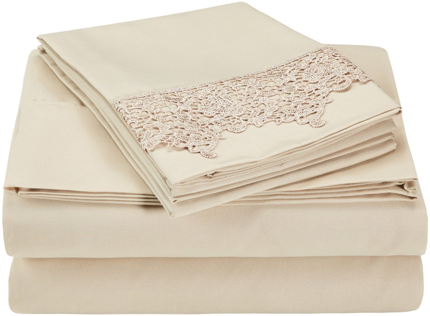 (Twin/Twin XL, Ivory/Ivory) LUXOR TREASURES Super Soft Light Weight, 100% Brushed Microfiber, Twin/Twin XL, Wrinkle Resistant, Ivory Duvet Set with Regal Lace Pillowshams in Gift Box B00QILXBLA Twin/Twin XL|アイボリー/アイボリー アイボリー/アイボリー Twin/Twin XL