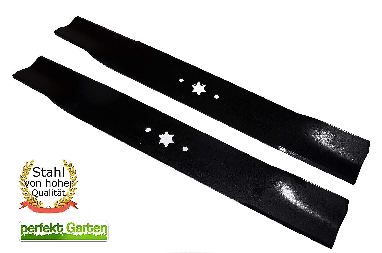 2 x 53,5 cm tráctor Juego de cuchillos para MTD/Wolf Garten ...