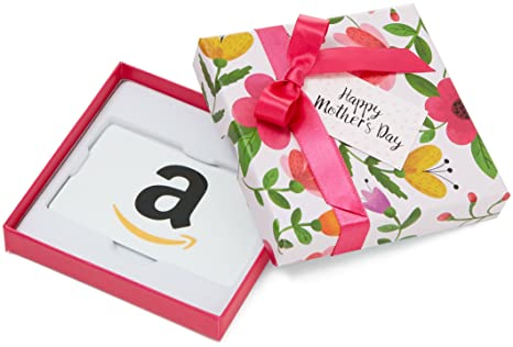 amazon com amazon com gift card in a floral box for mother s day