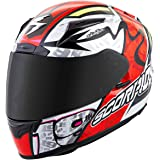 Scorpion EXO-R2000 Bautista Motorcycle Helmet (Neon Red, Small)