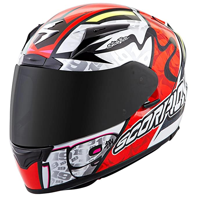 Amazon.com: Scorpion EXO-R2000 Bautista Motorcycle Helmet (Neon Red, X-Small): Automotive