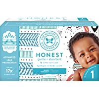 The Honest Company Club Box Diapers with TrueAbsorb Technology, Teal Tribal & Space...