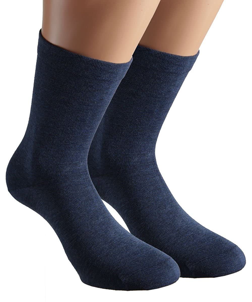Vitasox Herren Socken Extra weit Gesundheitssocken Sensibel ohne Gummi 4er,6er 8er Pack