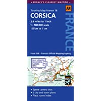 Road Map Corsica (AA Touring Map France 16)