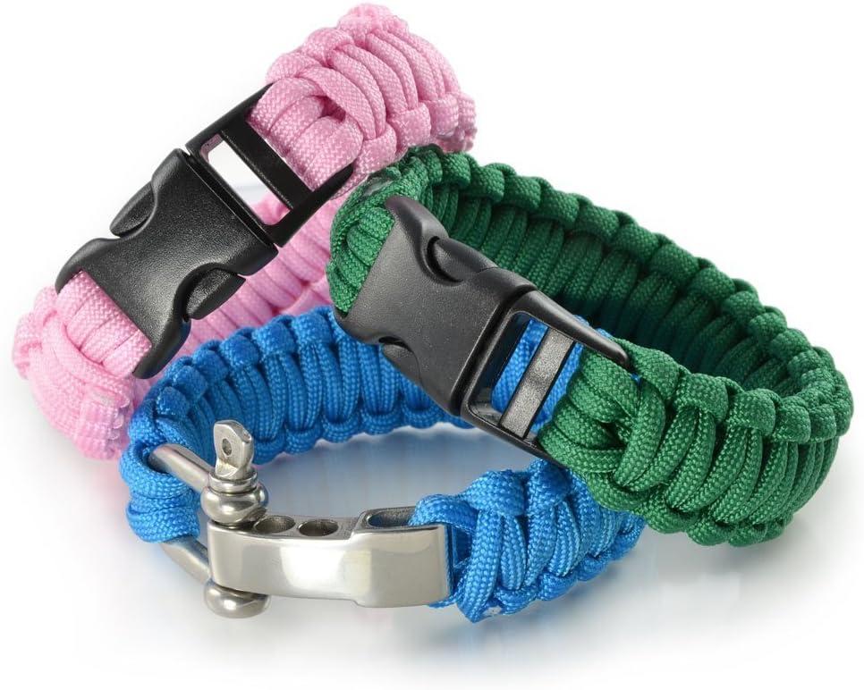noir jaune pour bracelet ou collier de chien Paracorde 550 corde 31 m/ètres