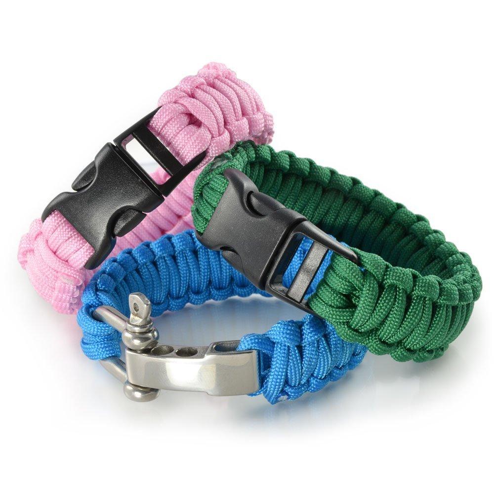 31 m/ètres pour bracelet ou collier de chien Paracorde 550 corde noir blanc