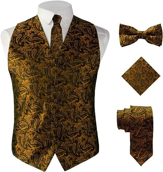New Infant Toddler Boy Wedding Formal Party Vest Suit D Brown Poly Button S-7