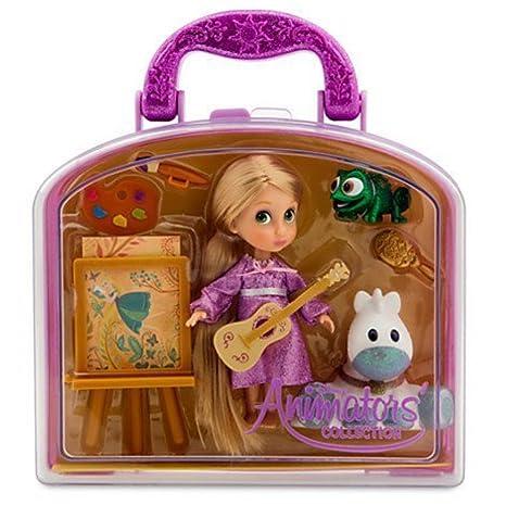 317482c2a49 Amazon.com  Disney Animators  Collection Rapunzel Mini Doll Play Set - 5     Toys   Games