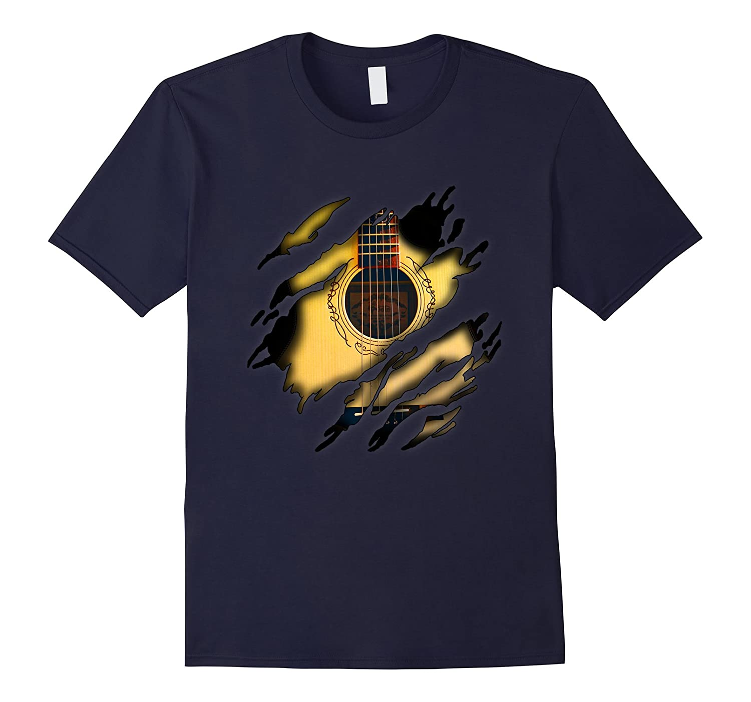 Acoustic Guitar in me T-Shirt, Guitarshirt-FL