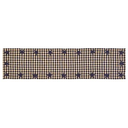 VHC Brands 18001 Stratton Burlap Applique Star Panel Set