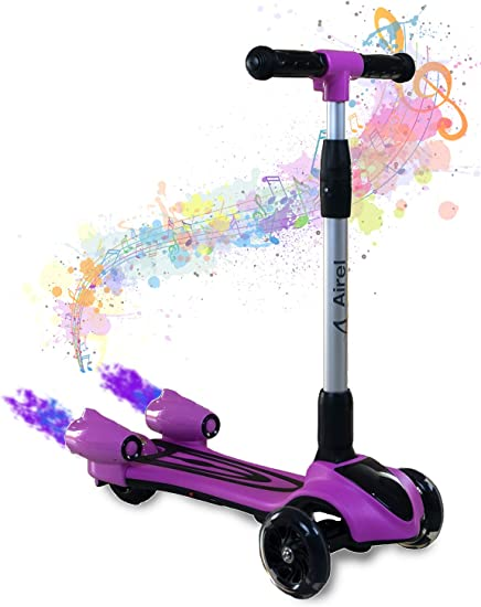 LED Kinder Scooter Kinderroller Cityroller Tretroller Klappbar mit 3 Räder Rosa