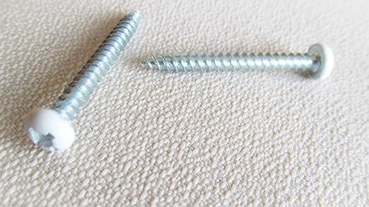 "Pan White Head Screw # 10 X 1 1//2/"" Square Drive Twinfast Thread Cargo RV 60 Pcs"