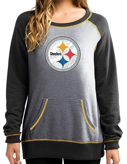 Majestic Pittsburgh Steelers Women s NFL O.T. Queen French Terry Sweatshirt 29f677eaa