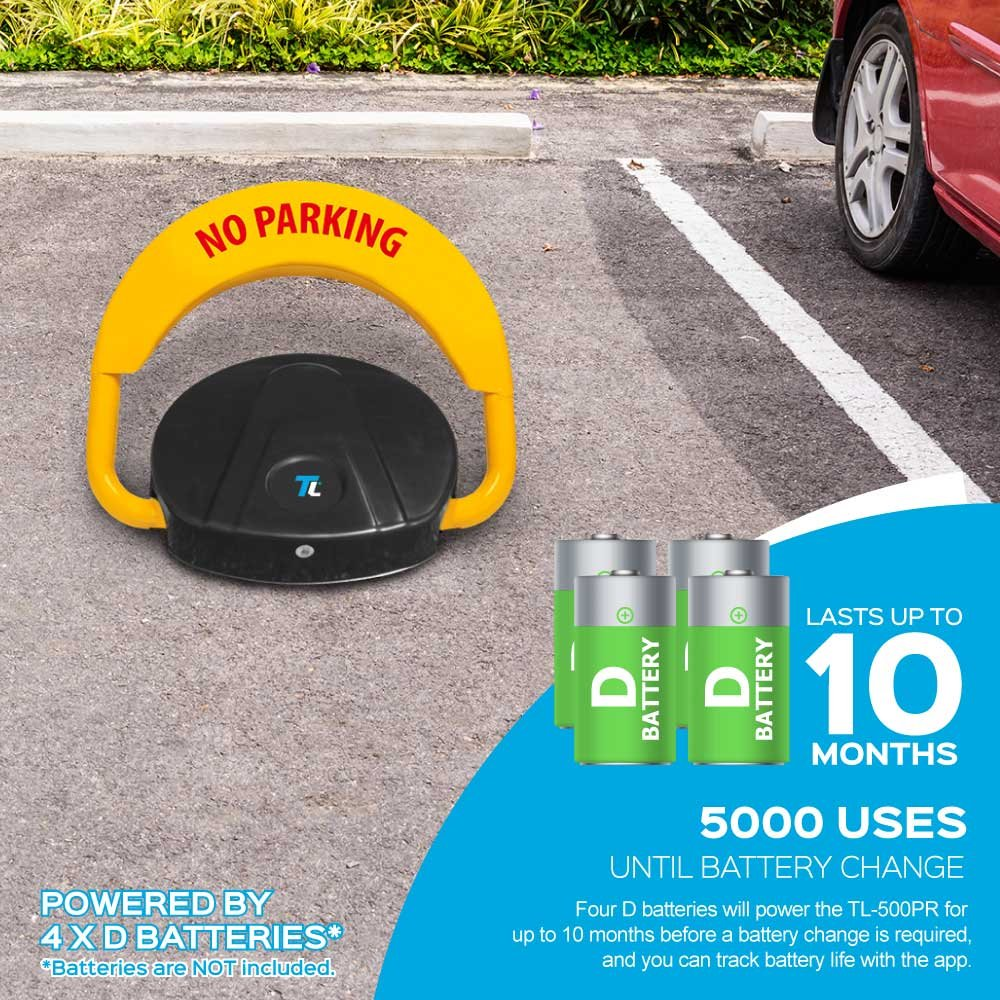 Protect Your Parking Space; Easy Installation TURBOLOCK Solid Steel Bluetooth TL-500PR Parking Lock w//Alarm /& App