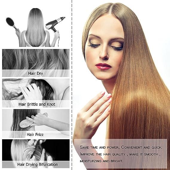 Eléctrica plancha de pelo, Wire pulgadas glättb ürste alisador de cabello alisado Cepillo Pelo Cabello Cepillo con LCD indicador de temperatura para pelo ...