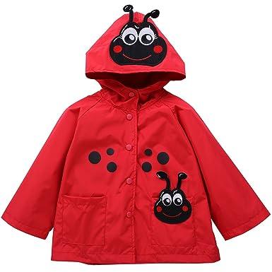 59339ef46 Amazon.com  Waterproof Rainwear Windbreaker Hooded Raincoat Cute ...
