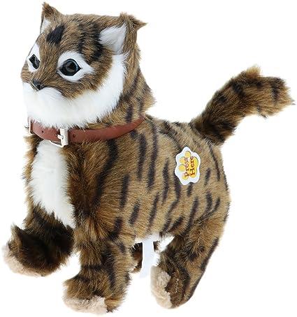 elektronische Plüsch Katze Spielzeug Kuscheltiere gehen Katze Miau