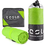 TSLA Microfiber Cooling Active Sports Towel, Traveling Running Workout Hiking Camping Beach Backpacking Gym and Swimming…