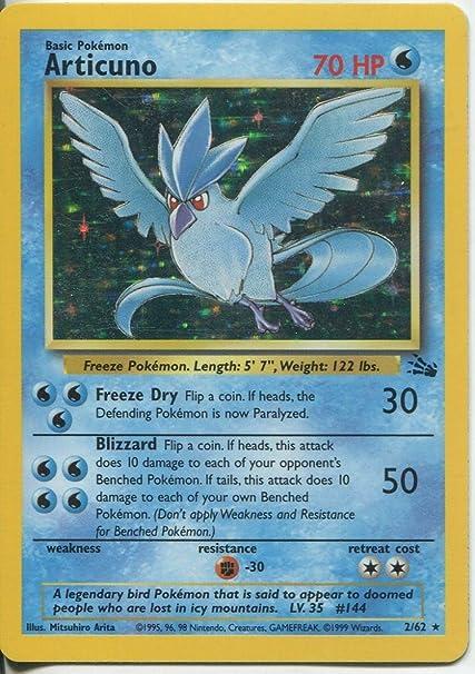 Amazon.com: Pokemon Fossil Holofoil raro tarjeta # 2 ...