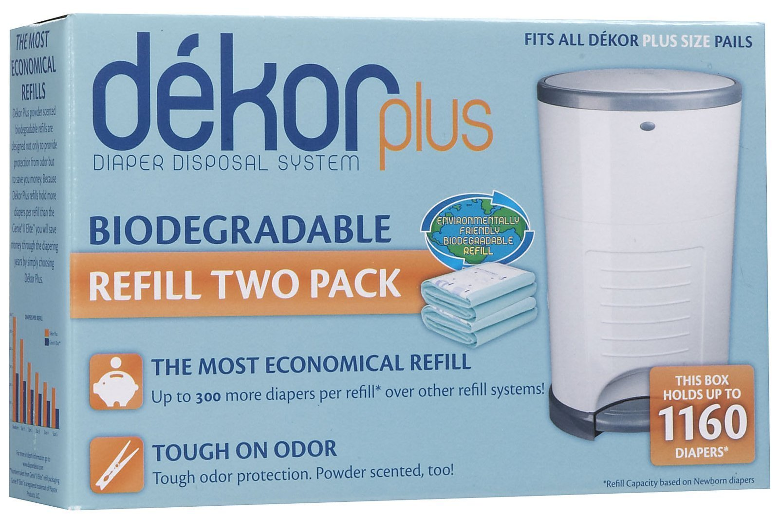 Diaper Dekor Plus Biodegradable Refill - 2 ct ''Discontinued by Manufacturer''