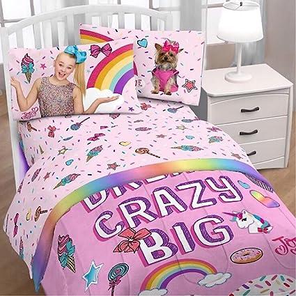 Lovely Jojo Siwa Nickelodeon Girls Twin Bedding Sheets Pink