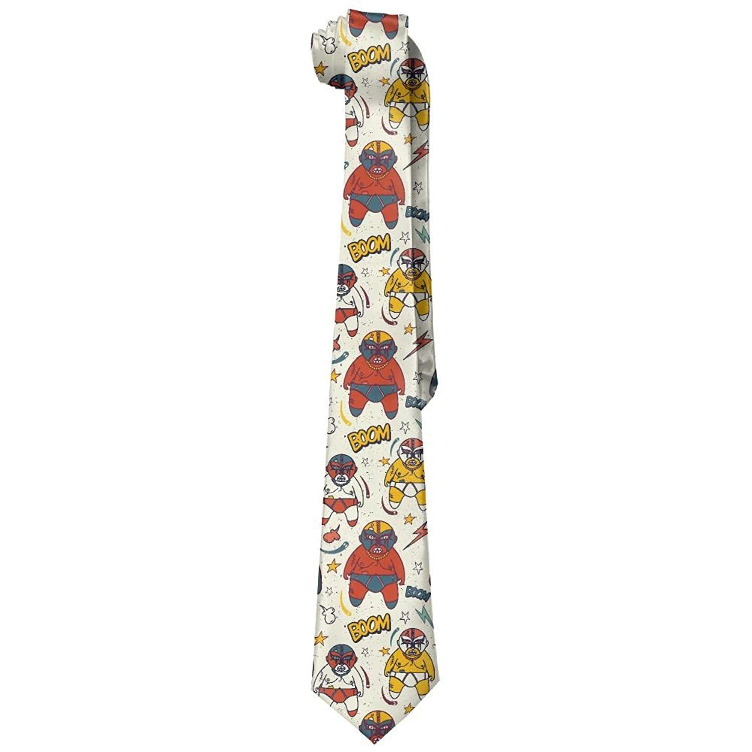 Men's Printed Floral Neck Tie Trust The Work You Put In Wrestling Coloring