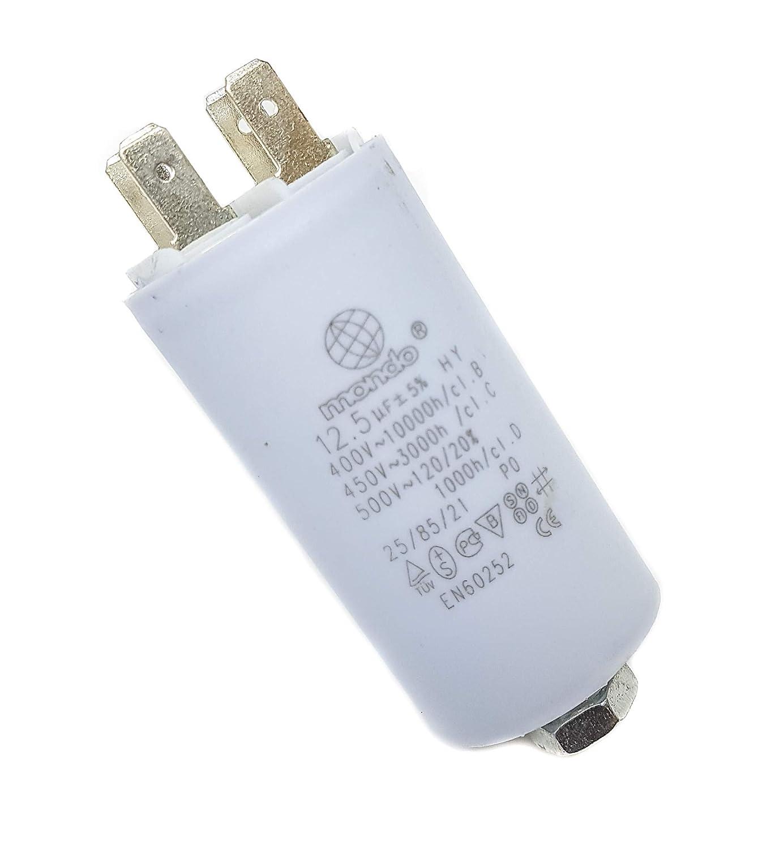 12 5 µf Universal Mondo Kondensator 450 V Weiß Gewerbe Industrie Wissenschaft