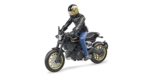 Amazoncom Bruder Ducati Scrambler Cafe Racer With Driver Vehicles