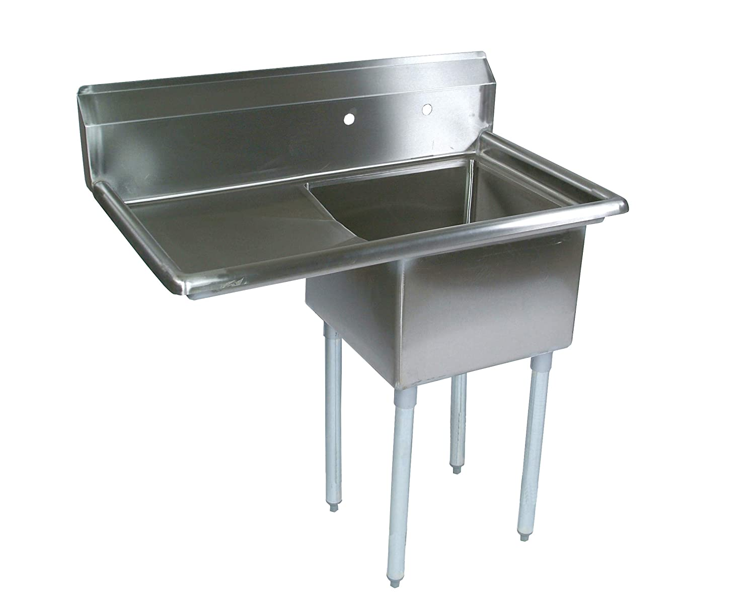 Remarkable John Boos E Series Stainless Steel Sink 12 Deep Bowl 1 Compartment 18 Left Hand Side Drainboard 38 1 2 Length X 23 1 2 Width Nsf Certified Interior Design Ideas Inamawefileorg
