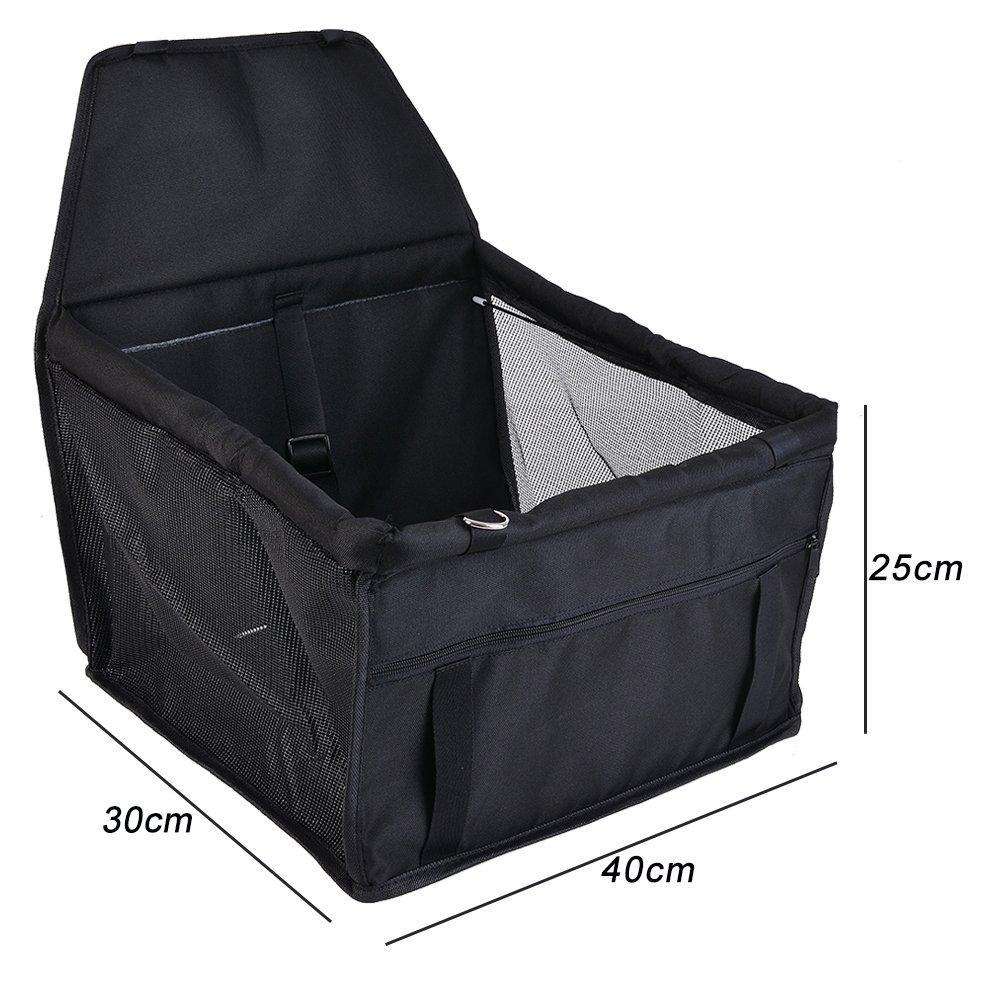 40x30x25cm laamei Asiento del Coche de Seguridad para Mascotas Cubierta Impermeable Protector Caja de Transporte Viaje Bolsas para Perro Gato