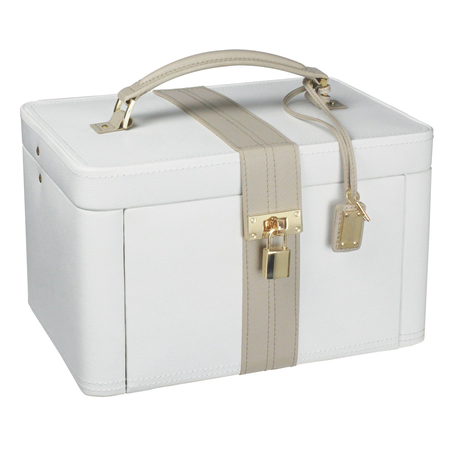 Dulwich Designs jewellery organiser |cream & mink two-tone large ...