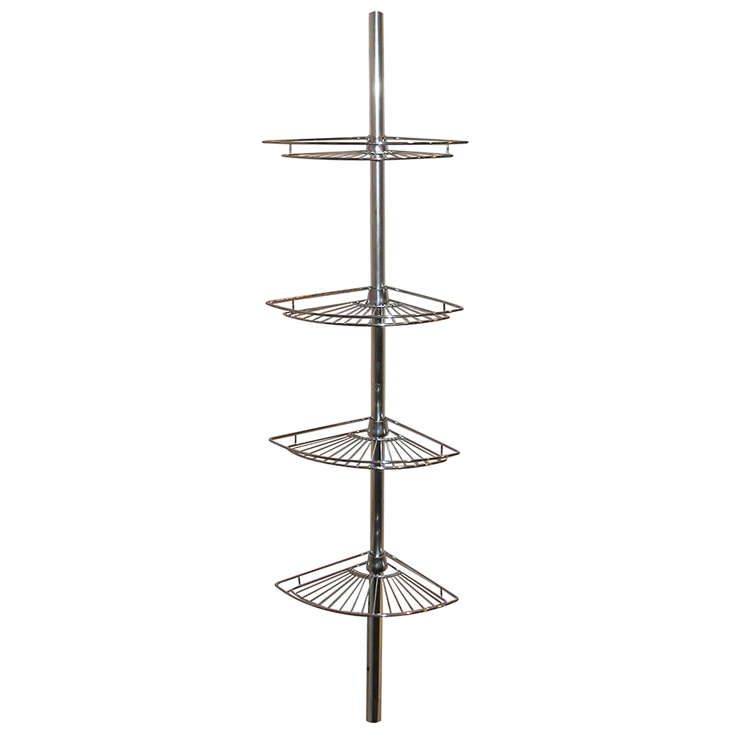 Amazon.com: Zenna Home 2114S, Tension Corner Pole Caddy, Chrome ...